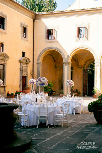 Castle for wedding near Florence reception