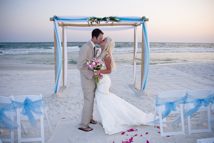 Blessing Ceremony on the Tuscany Beach Wedding