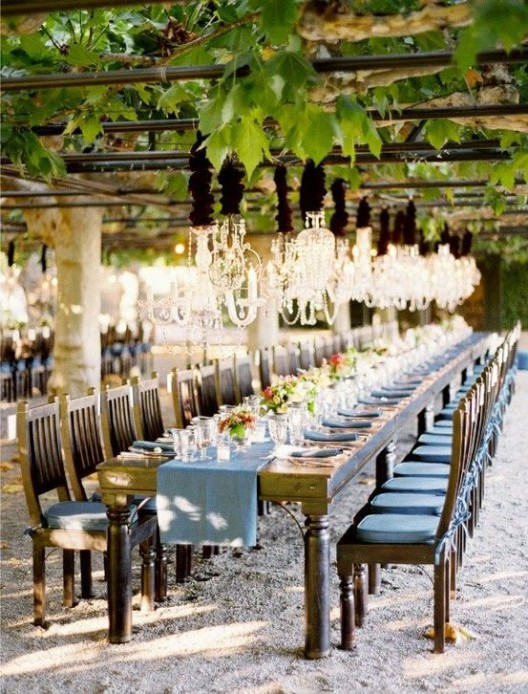 Rustic Chic Table Wedding Winery Inviations