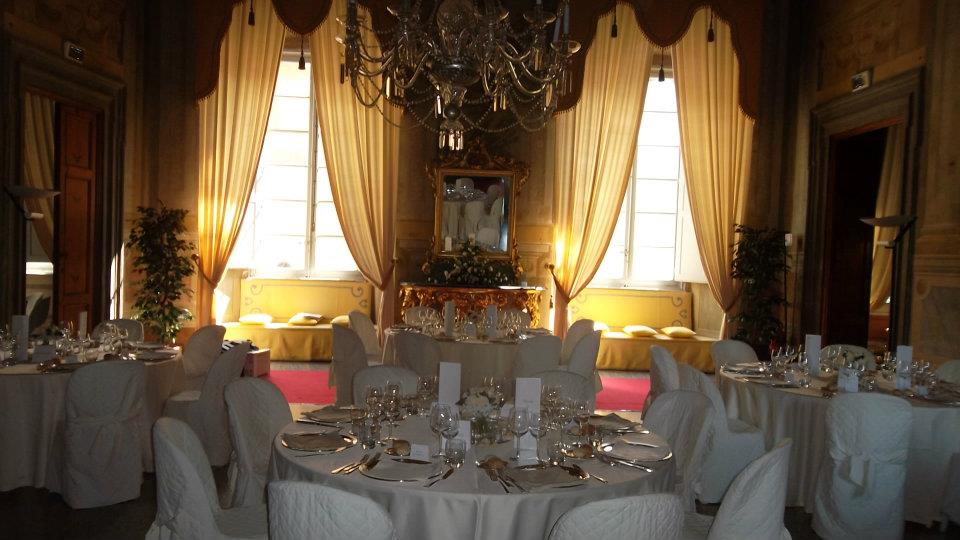 sala in villa storica di Lucca