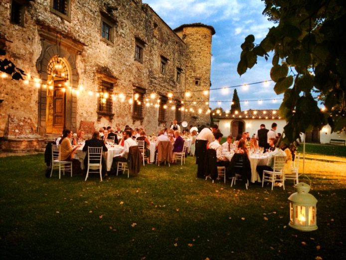 wedding dinner in a castle
